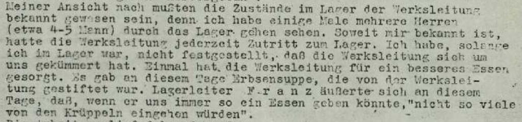 Aussage von Gottlieb Sturm vom 21.10.1946