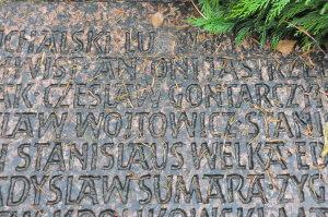 Ceslaw Gontarczyk auf dem Gedenkstein am Frankfurter Hauptfriedhof © Stefanie Grohs